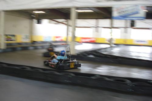Adam go cart racing