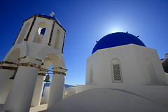 church | Santorini (arnabchat) Tags: blue sky white color tourism church architecture poster island europe symbol wide explore santorini greece calender grecia caldera ia orthodox favs oia cyclades orthodoxchurch   1022canon  orthodoxchurcharchitecture