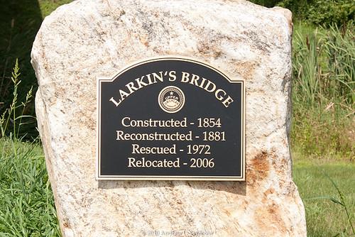 Larkin's Covered Bridge (Information plaque) 001