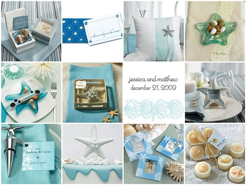 Add flair to a beach themed wedding with starfish wedding decorations and