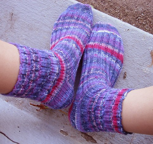 Purple BBQ Ribs Socks