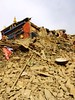 Picture of the local Kyegu Monastery of Sakya tradition taken on the first day of  earthquake