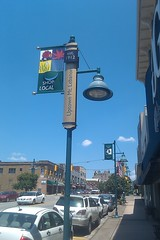 New signs on street posts in Mt. Lebanon, Pennsylvania
