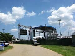 Behind the Kroger Stage at Hullabalou 2010