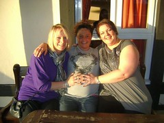 Lesbian Baby On The Way (I Had No Part In It) (Chubby Lizzie) Tags: friends english girl smile lesbian hair happy hug elizabeth lizzie pregnant lass blonde cuddle chubby chubbygirl