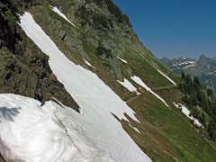 The Lingering Steep Snowfield Crossing