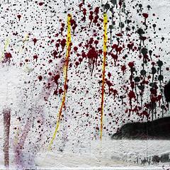 Iwo Jima, 19/03/45 (daliborlev) Tags: texture wall square landscape island graffiti paint urbandecay brno violence combat mundanedetail