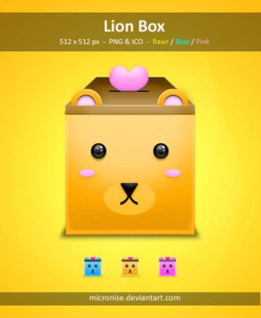 Lion box icons