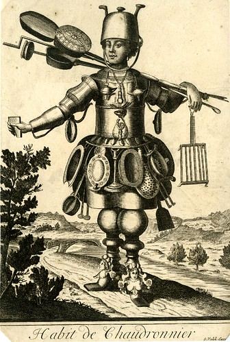 004-Vestimenta de artesano del cobre-Les Costumes Grotesques 1695-N. Larmessin-© The Trustees of the British Museum
