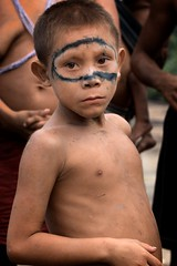 Yanomami indians in their village (Ronald de Hommel) Tags: boy people tree green tourism southamerica nature wet water face rain america forest river gold kid amazon rainforest paint village natural native body venezuela painted indian tribal piercing basin jungle latin tropical change tropic environment ritual indians tribe piercings riverbank tropics climate tribaldance sustainable sustainability indigenous amazonas reportage ecosystem rituals amazona orinoco rionegro indigena amazone yanomami puertoayacucho casiciareriver selvadentro