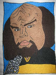 Worf Embroidery, finallyyy finished! (Sabronx) Tags: startrek embroidery klingon worf