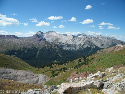 Snowmass Mountain from Buckskin Pass, Maroon Bells Wilderness, White River National Forest, Colorado