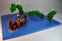 Running-Cloud learns a valuable lesson in local lore (DARKspawn) Tags: sea lake monster lego fig indian figure dio minifig serpent vignette mythology diorama horned minifigure vig cannoe brickbuiltbeast uktena collectableminifigure