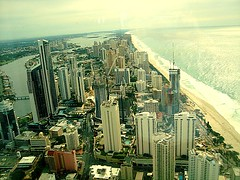 Surfers Paradise Skyline (Theflickrtower) Tags: ocean australia soul queensland surfersparadise jacksbirthday goldcoast q1tower q1building circleoncavill q1spaandresort hiltonhotelresidences
