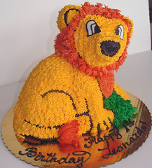 Birthday Cake (Lana's Dazzling Desserts) Tags: cake birthdaycake uniquecake kidscake lionshapedcake