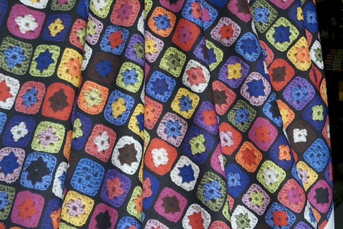 Granny Square printed on Quilting Weight Cotton