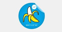 WTF Brand #2 (justlucky) Tags: sex fruit illustration design education banana boxes wtf branding cause nonprofit talkbubbles heartsupport xxxchurch craiggross justlucky