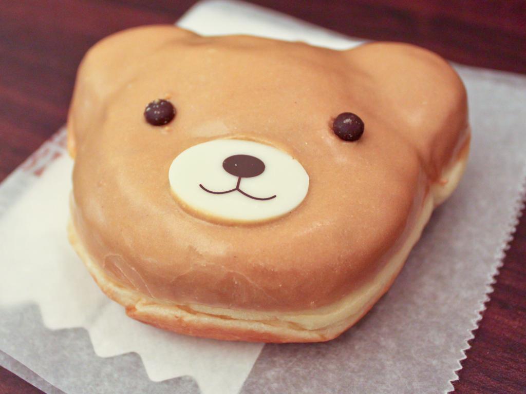 Almond cream bear donut from myinnerfatty on Flickr