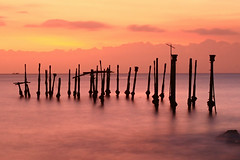 Ex-jetty (Randi Ang) Tags: longexposure sunset seascape beach broken canon indonesia landscape eos harbor pier twilight jetty 5d lombok waterscape ntb ef1740mmf4l ampenan westnusatenggara nusatenggarabarat exharbor
