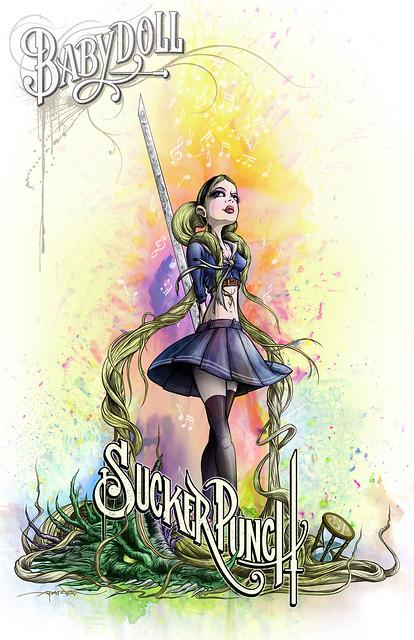 Sucker Punch cartoon character poster