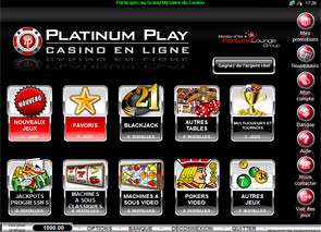 Platinum Play Casino Lobby