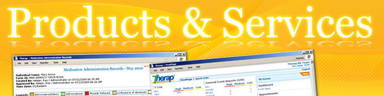 Graphics of Products & Services page banner
