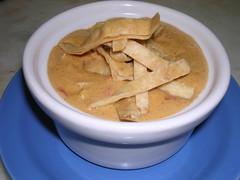 Chicken Tortilla Soup (Downtown Chef Tom) Tags: black chicken pepper soup beans corn chili cream cayenne garlic onion cumin tortilla oregano chilis