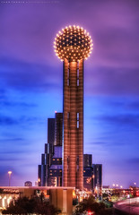 Reunion Tower - Dallas, Texas (todd landry photography) Tags: tower reunion architecture dallas nikon texas hdr d90 hdratnight