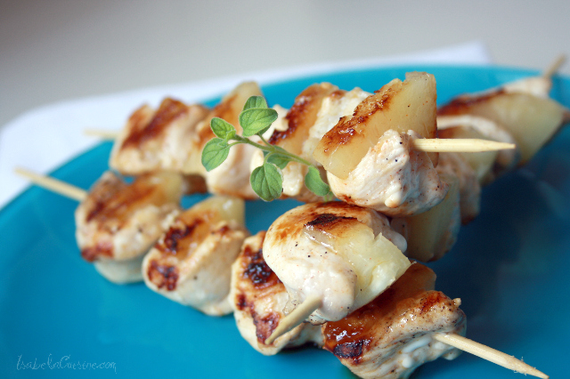 Articole culinare : Frigarui aromatice de pui si ananas