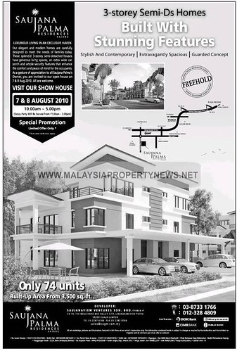 Saujana Palma Residence 3-Storey Semi-D Homes For Sale in Kajang