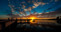 row row row ya boat (liipgloss) Tags: sunset lake boat squidsink