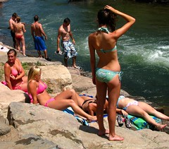 Golden Girls (Carl Neufelder) Tags: girls summer sun colorado tan explore bikinis clearcreek goldencolorado explored