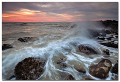 Feel the waves (Nora Carol) Tags: ocean sunset seascape rock waves kotakinabalu sabah slowshutterspeed sigma1020 cokingnd putatan nikond90 noracarol petagas telukvila cokinp121sp121l
