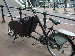 Bakfiets (murky) Tags: netherlands amsterdam bicycle cycling nederland thenetherlands cycle noordholland bakfiets northholland
