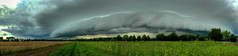 Shelf cloud / Wolkenwalze (Claude@Munich) Tags: sky autostitch panorama cloud weather clouds germany bayern bavaria space oberbayern upperbavaria felder himmel wolken thunderstorm openspace gewitter hdr wetter vast arcus benwalze claudemunich shelfcloud gustfront oberhaching deisenhofen gewitterwolken arcuscloud wolkenwalze benkragen