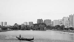 . (JHamel) Tags: family summer blackandwhite boston evening charlesriver citylife esplanade rowing gondola canon50mmf18 mass bostonist 16x9