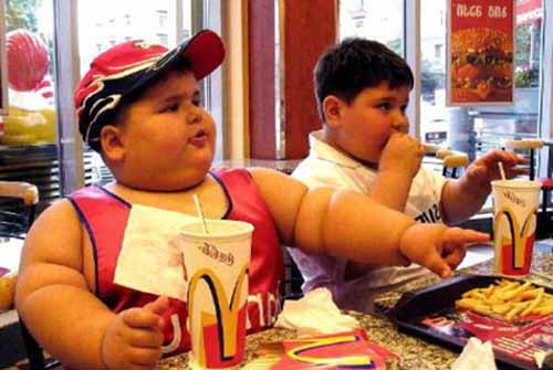 Fat kid in McDonalds
