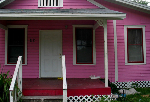Pink House Downtown 112 Red Porch White Handrail