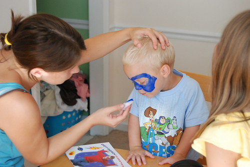 super hero face-painting