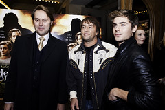 Christian McKay, Richard Linklater and Zac Efron at the ME AND ORSON WELLES Austin Premiere