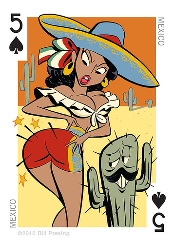 Sombrero playing card