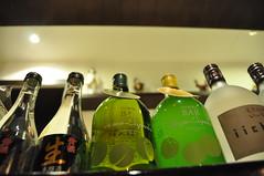 Looking up (daniel.lih.photography) Tags: japan restaurant nikon dof bottles drink bokeh taiwan sake alcohol taichung 台灣 酒 台中 d90 瓶 daniellih