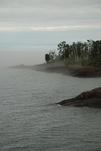 Foggy Lake Superior Morning