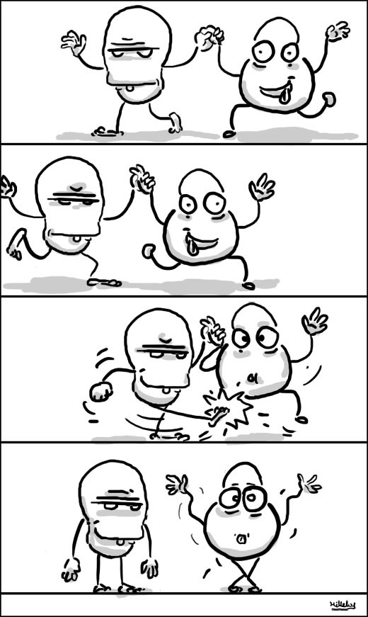 comics strips - painful dance