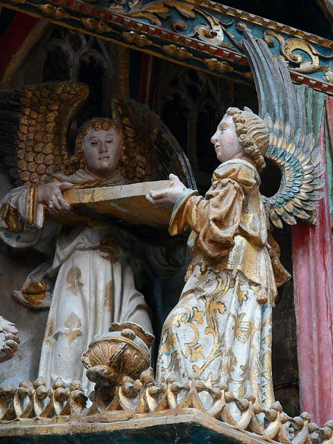 Detail Gothic Polychrome relief