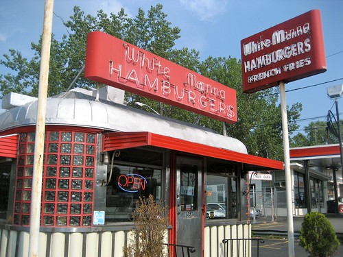 White Manna Hamburgers Vintage Sign