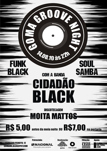14/08/2010 sábado | Goma Groove Night