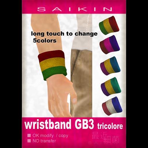 SAIKIN wristband tricolore