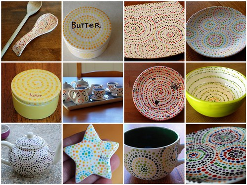 a variety of dottery