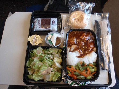 United Airlines dinner